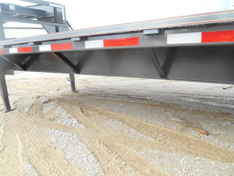 2019 Maxxd Trailers Gooseneck Flatbed With Singles Equipment Trailer