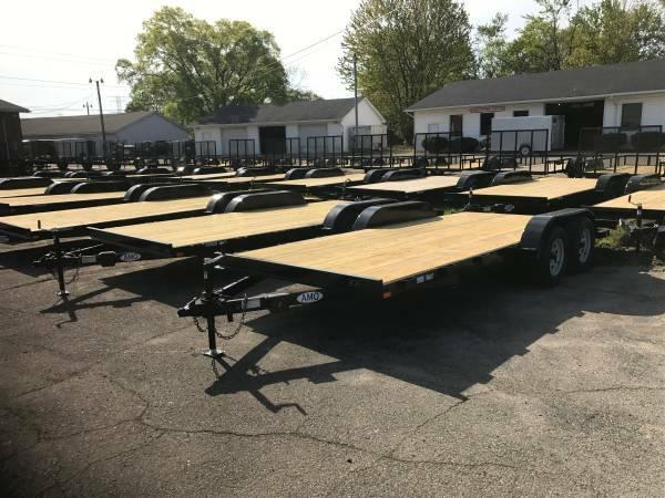 20ft Wood Deck Car Hauler Trailer w/ 2 Axle Brake  (LIMITED SUPPLY))