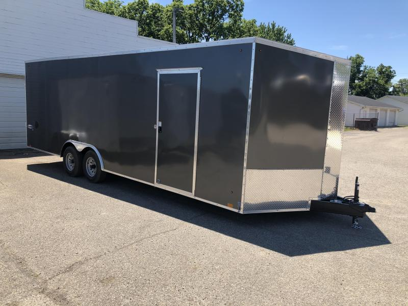 NEW 2021 8.5 x 24 10k LOOK Element enclosed trailer with 7ft interior height ( hail roof damage)