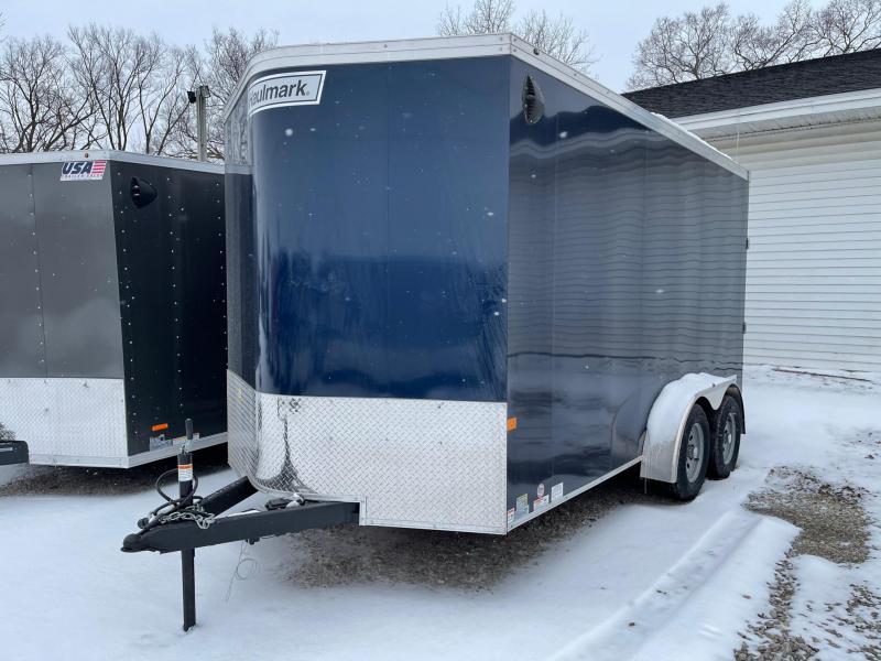 DAMAGED !! 7 x 14  Haulmark Transport - Enclosed Trailer - w/ Ramp Door   7ft Interior UTV Package