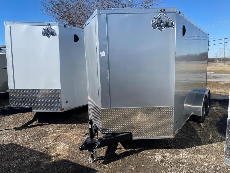 7 x 14  Rhino Safari - Enclosed Trailer - w/ Ramp Door 10,000 GVW  7ft Interior