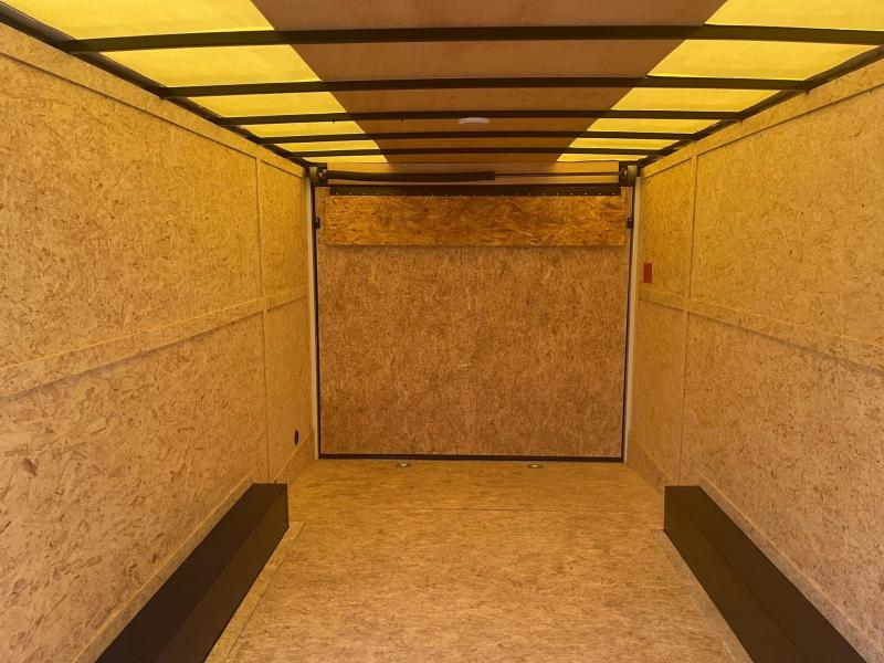 8.5 X 20  Rhino Sahara - Enclosed Trailer - w/ Ramp Door 7,000 GVW  7ft Interior