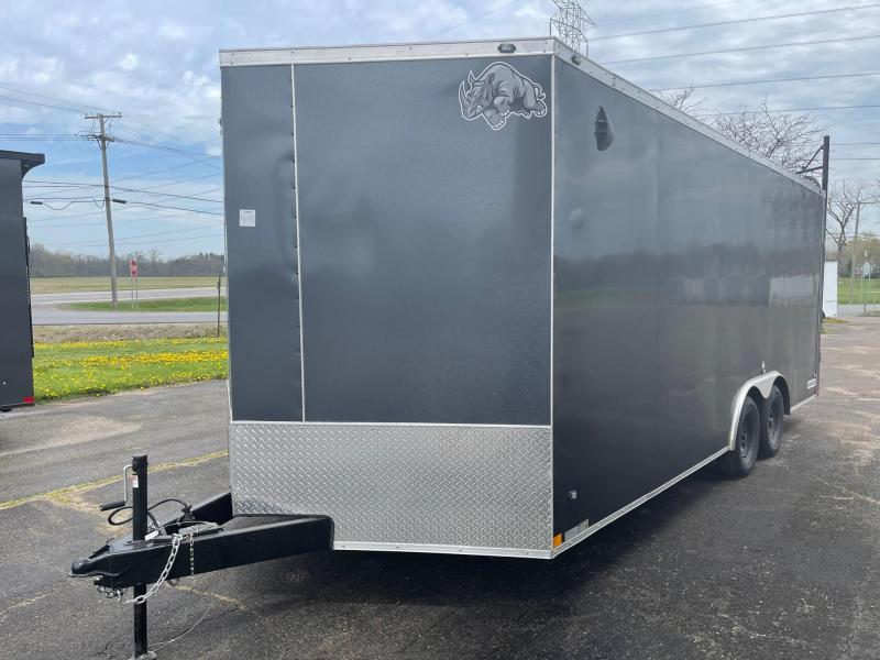 8.5 X 20  Rhino Sahara - Enclosed Trailer - w/ Ramp Door 7,000 GVW  7ft Interior