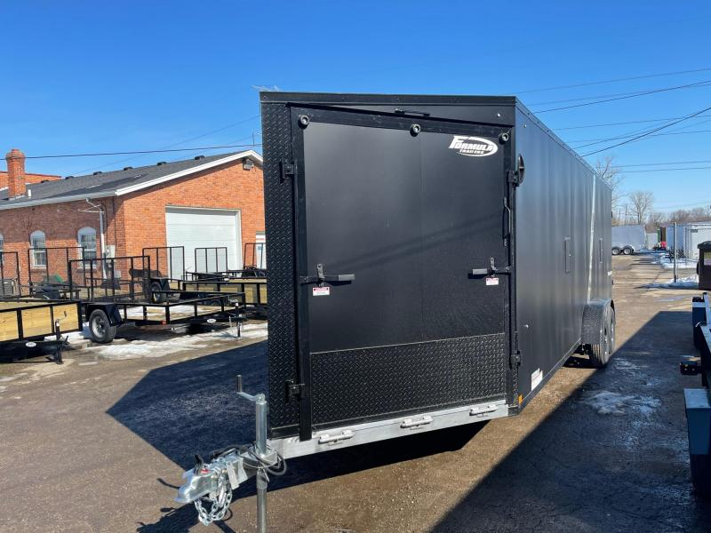 New 7 x 29 5 - Place Enclosed Aluminum Snowmobile Trailer LOADED!!!!!!