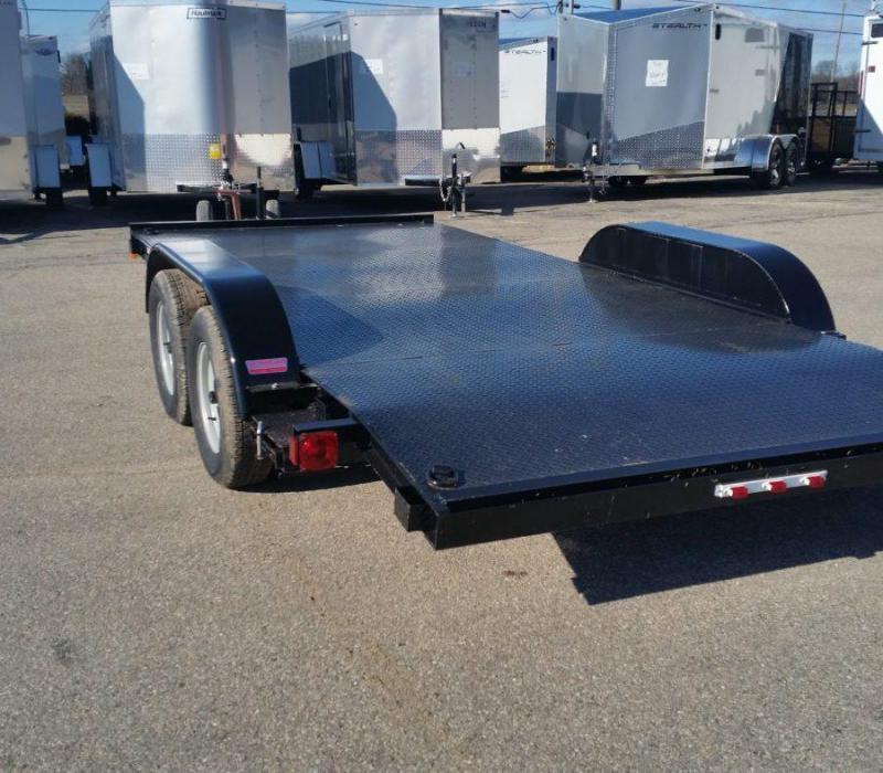 18ft Steel Deck Car Hauler w/ 2 Axle Brake