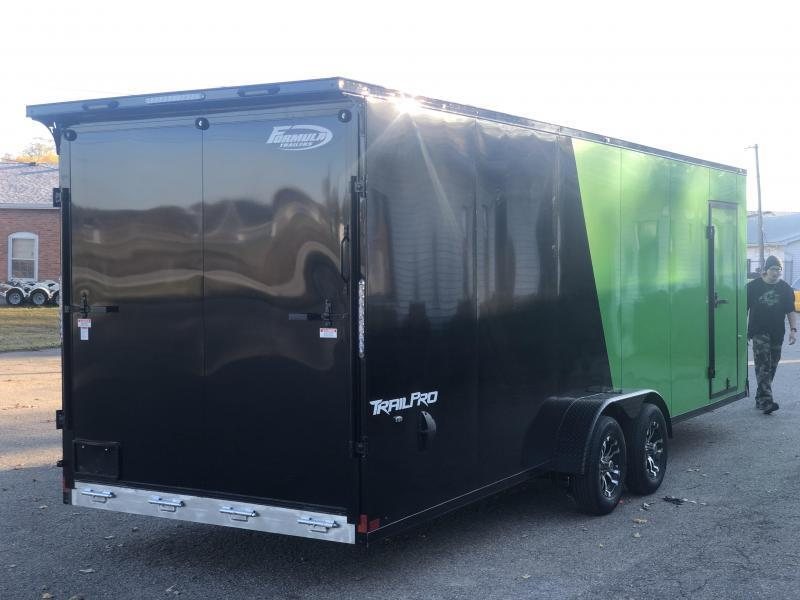 7 x 27 - 4 Place Formula All Aluminum Enclosed Snowmobile Trailer with extra height