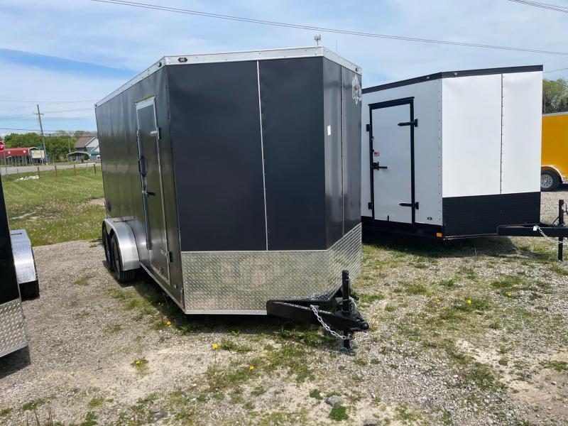 7 x 16  Rhino Safari - Enclosed Trailer - w/ Ramp Door 10,000 GVW  7ft Interior