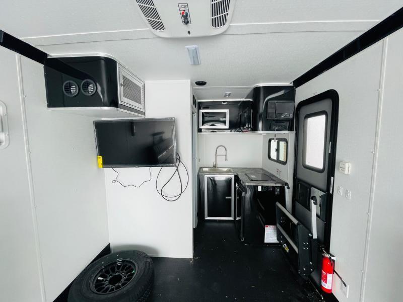 Toy Hauler w/ Living Quarters:8.5 x 24 STEALTH NOMAD 12K Enclosed Car Trailer