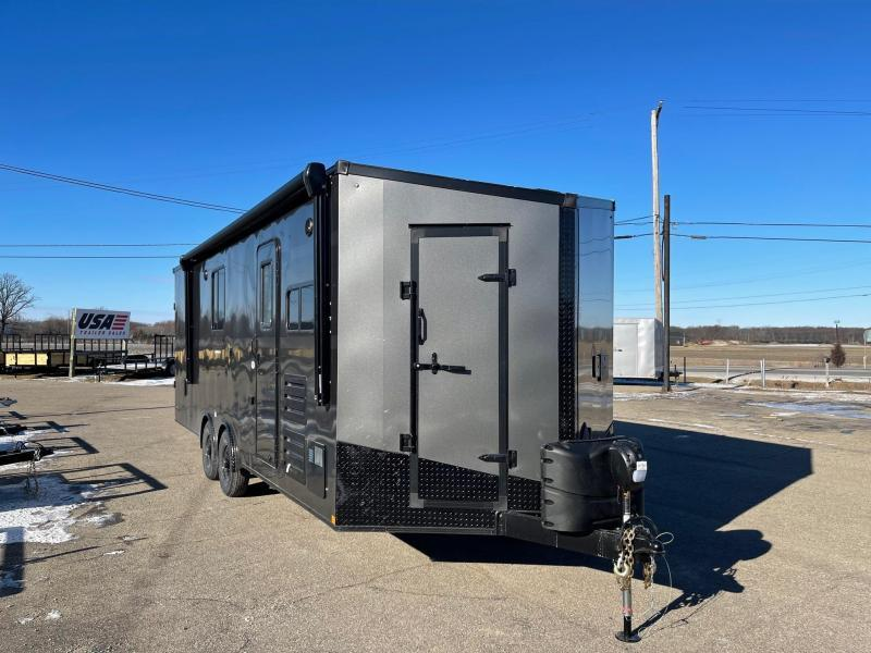 Toy Hauler w/ Living Quarters:8.5 x 24 STEALTH NOMAD 12K Enclosed Car Trailer