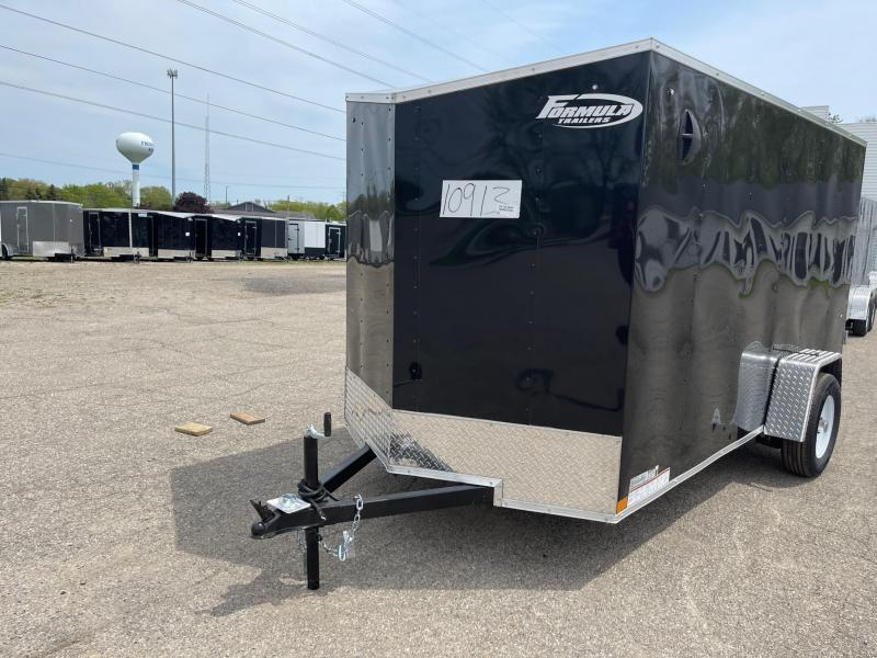 6 X 12 Enclosed V-Nose Trailer W - Ramp Door
