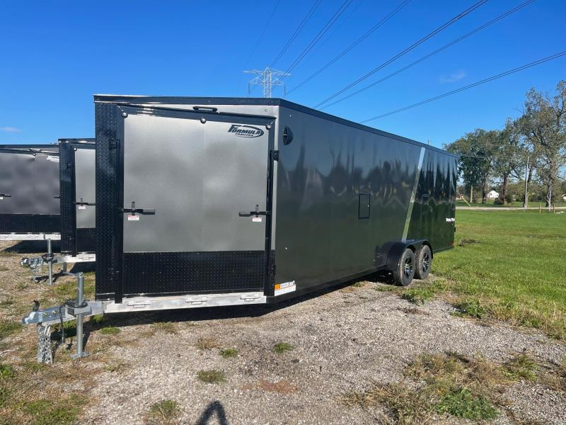 New 7x29 4 / 5 -Place Enclosed Aluminum Snowmobile Trailer with 7ft Interior Height