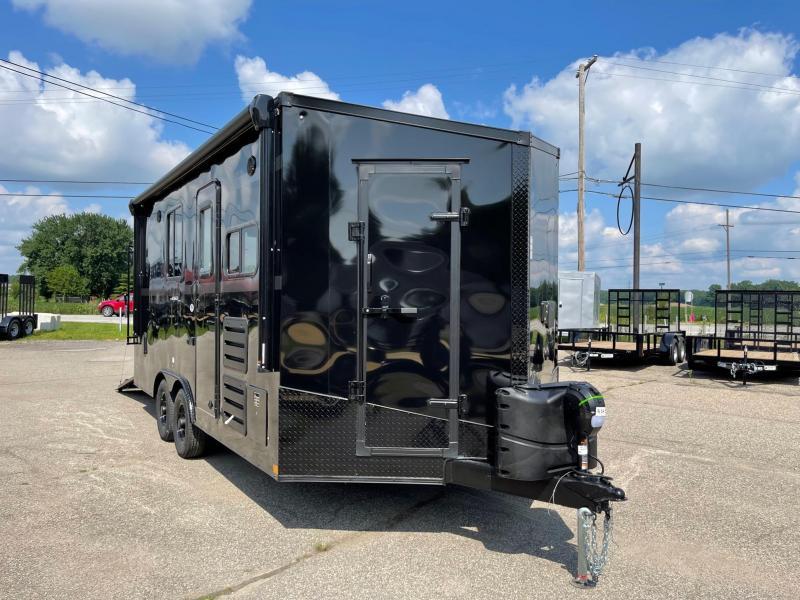 Toy Hauler w/ Living Quarters:8.5 x 18 STEALTH NOMAD 12K Enclosed Car Trailer FK Model