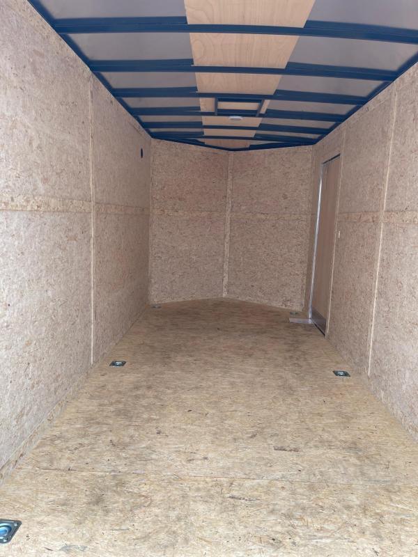 7 x 14  Rhino Safari - Enclosed Trailer - w/ Ramp Door BLACK OUT  7ft Interior UTV Package