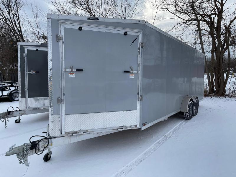 New 7 X 27  4 -Place Enclosed Snowmobile Cargo Trailer with Extra Height