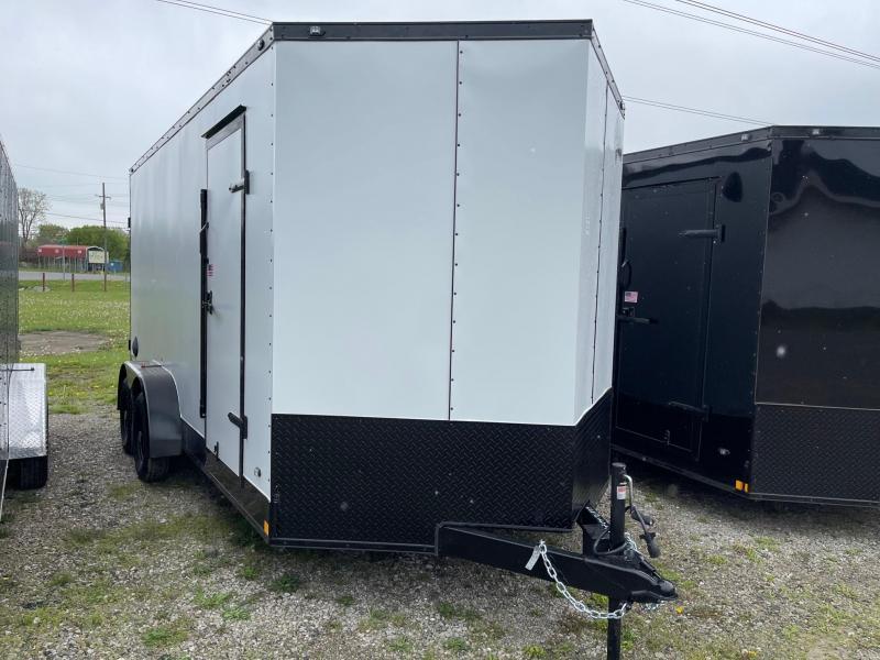 7 x 16  Rhino Safari - Enclosed Trailer - w/ Ramp Door 7000 GVW  7ft Interior