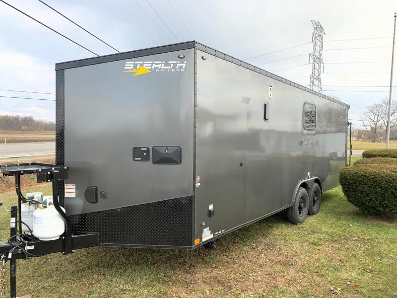 STEALTH NOMAD Deluxe Toy Hauler & Travel Trailer with Living Quarters - 12K