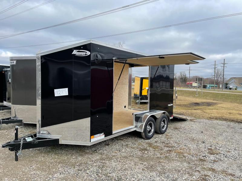 7 x 14 Formula Triumph  Enclosed Trailer - w/ Ramp Door   7ft Interior UTV Package w/ Escape Door