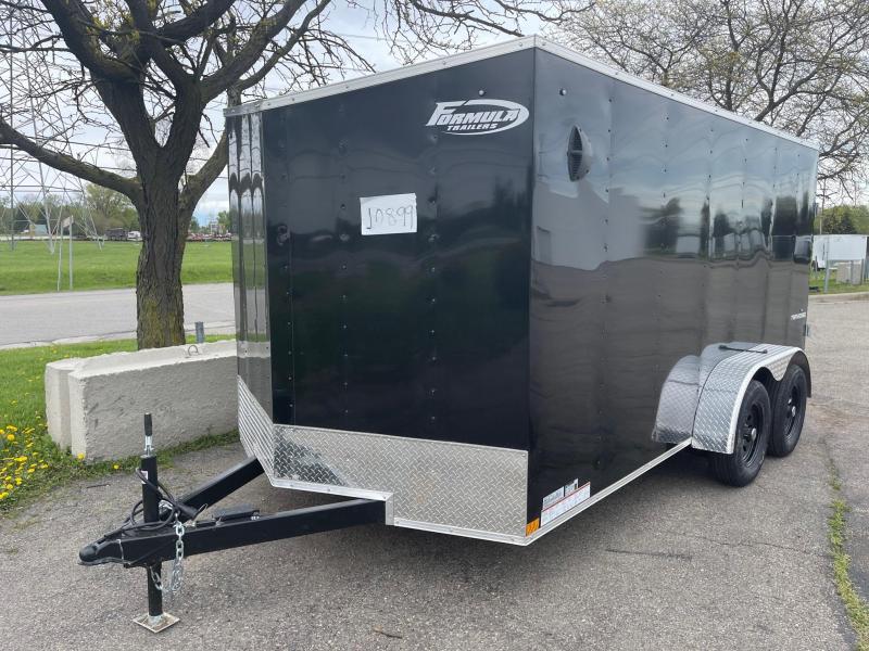 7 X 14 Enclosed V-Nose Trailer W - Ramp Door