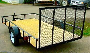 6.4 X 14 Landscape Utility Trailer With Ramp Gate - WHILE SUPPLIES LAST