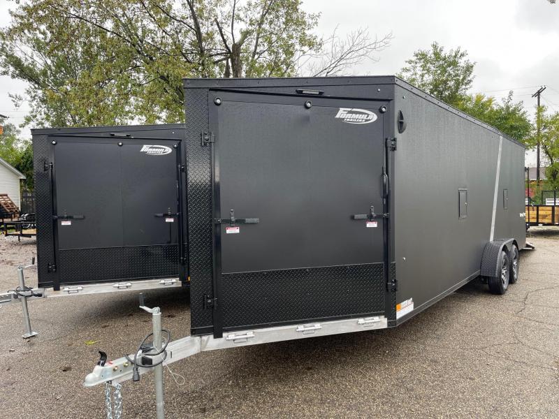 New 7x29 4 / 5 -Place Enclosed Aluminum Snowmobile Trailer.