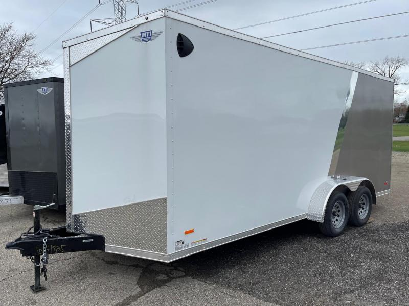 7 X 18 Enclosed V-Nose Trailer W - Ramp Door WITH EX HEIGHT