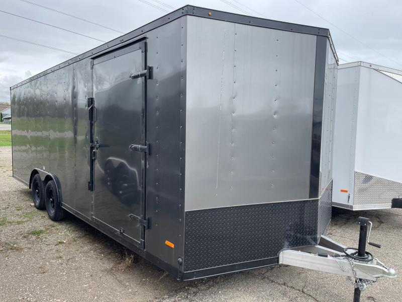 8.5x22 MTI Enclosed Car Hauler Trailer (7K) ALL ALUMINUM
