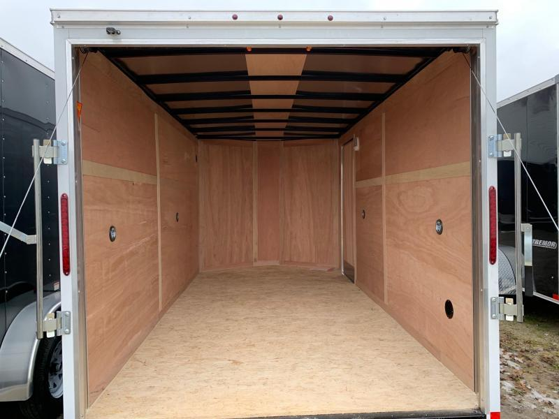 "7x16 Haulmark Passport Ramp Door - 16"" on center Walls - Tie Downs Pre-Installed"