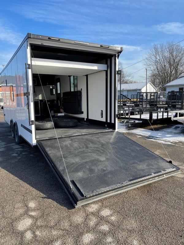 Toy Hauler w/ Living Quarters: 8.5 x 22 STEALTH NOMAD 10K Enclosed Car Trailer