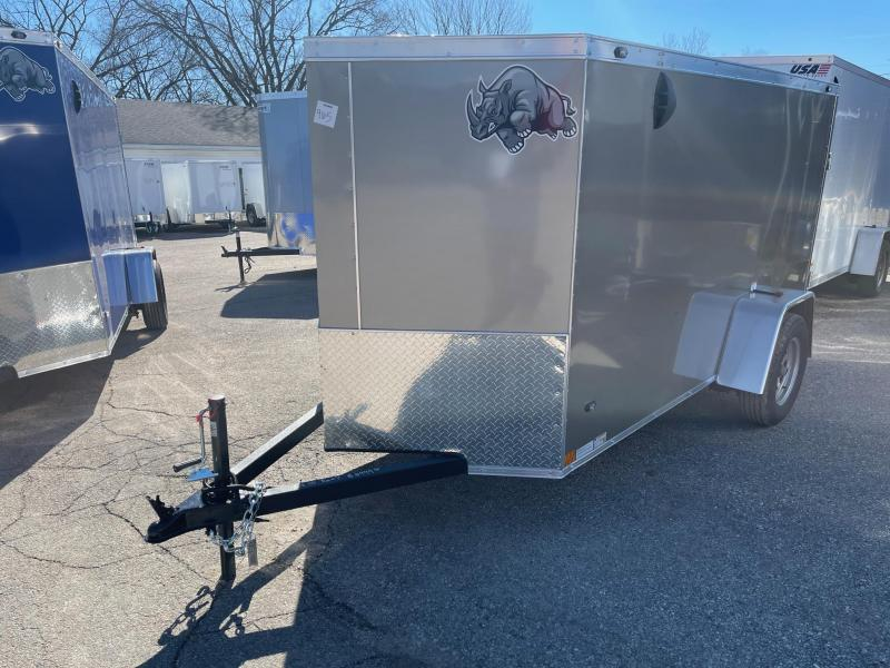 5 x 10  Rhino  CUB  - Enclosed Trailer - w/ Ramp Door