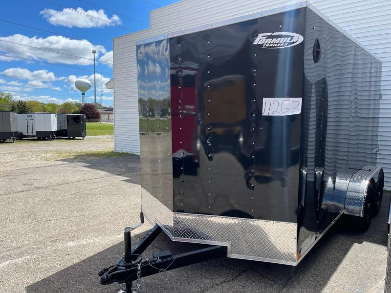 7 x 14 Formula Traverse  Enclosed Trailer - w/ Ramp Door   7ft Interior