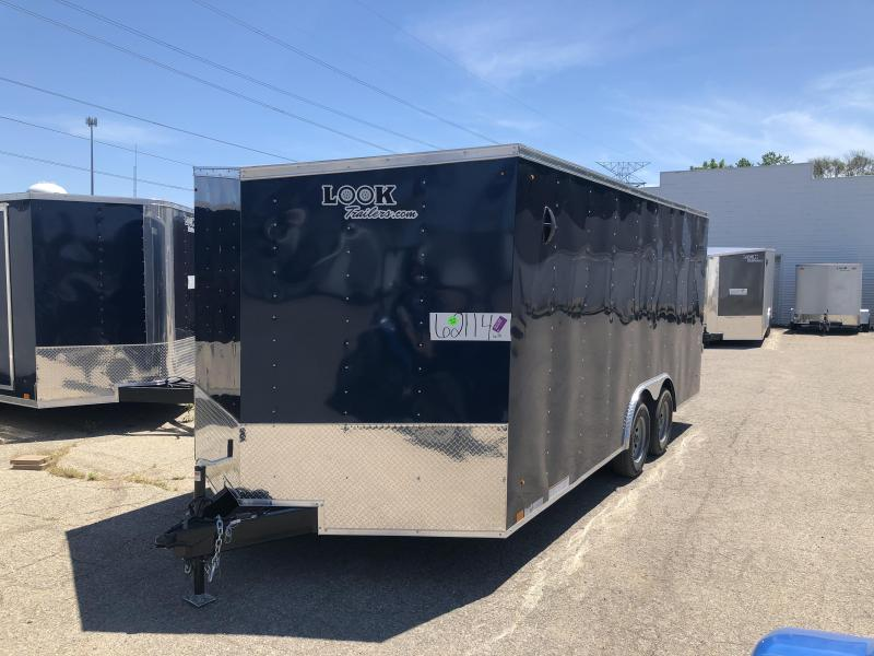 2021 Look 8.5 x 18  DLX Enclosed Cargo Trailer ( BLUE )