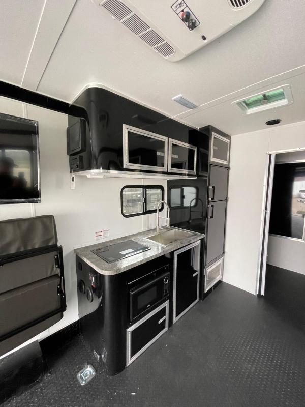 Toy Hauler w/ Living Quarters:8.5 X 26 STEALTH NOMAD 12K Enclosed Car Trailer FB Model