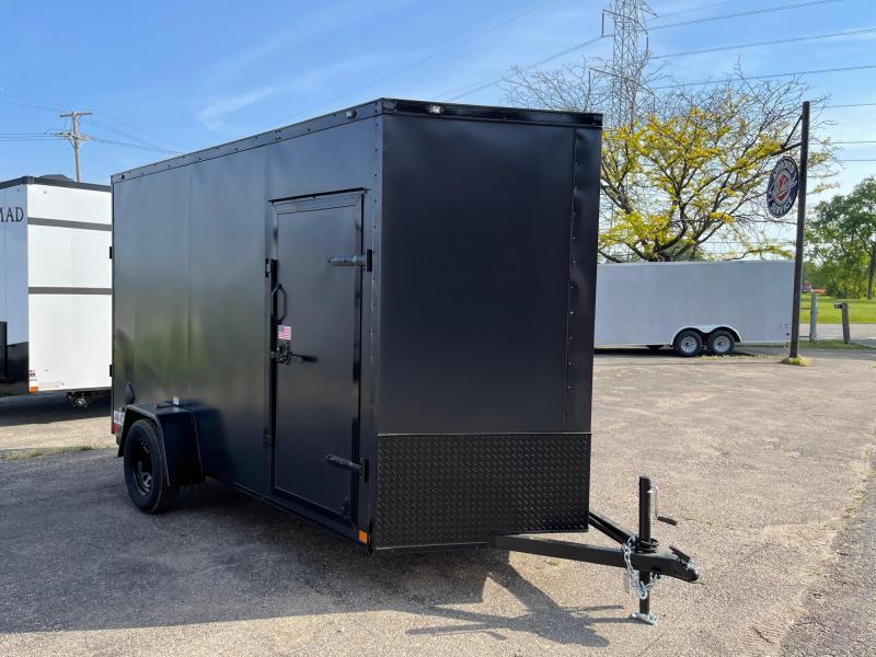 6x12 Rhino CUB  - Enclosed Trailer 7ft interior height- w/ Ramp Door UTV Package