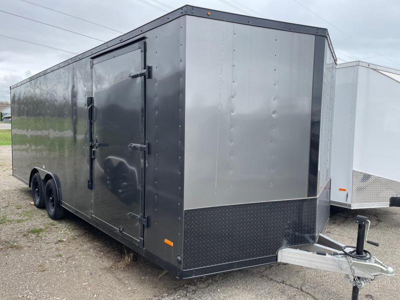 ALL ALUMINUM 8.5x22 MTI Enclosed Car Hauler Trailer 7000 GVW