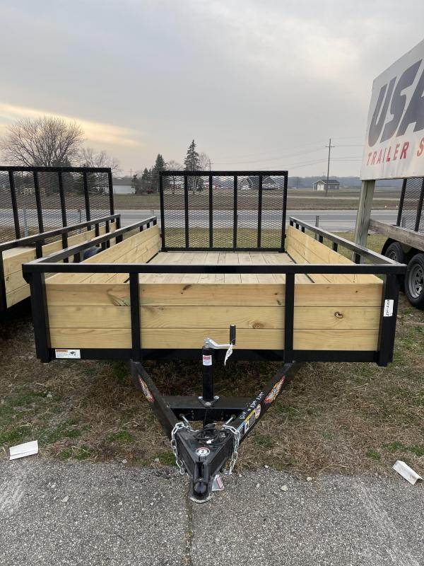 2021 76 x 14 H and H Trailer STEEL WOOD SIDES 3.5K