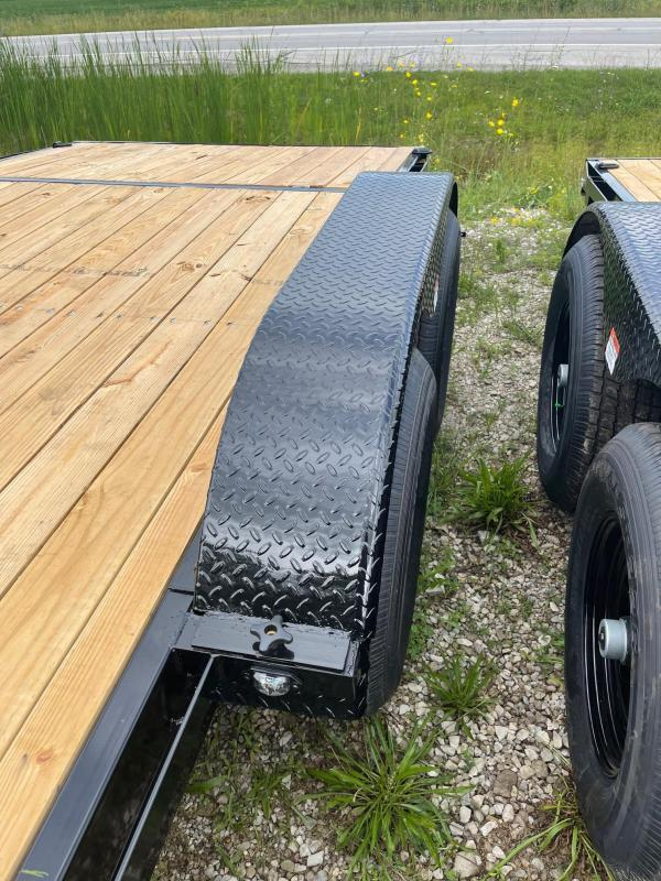 20ft 10.000 GVW RHINO Tandem WOOD DECK CARHAULER Trailer - 2 Axle Brake