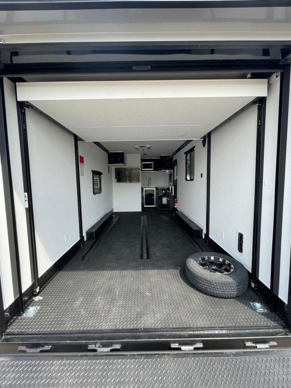 Toy Hauler w/ Living Quarters: 8.5 x 22 STEALTH  NOMAD FK MODEL 10K Enclosed Car Trailer