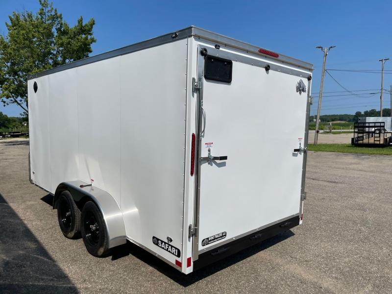 "7 x 16 7K Rhino Safari - Enclosed Trailer - w/ Ramp Door 7,000 GVW 6'6"" interior height"