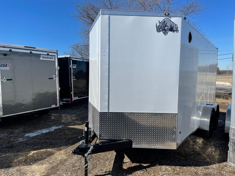 7 x 14  Rhino Safari - Enclosed Trailer - w/ Ramp Door 10,000 GVW  7ft Interior