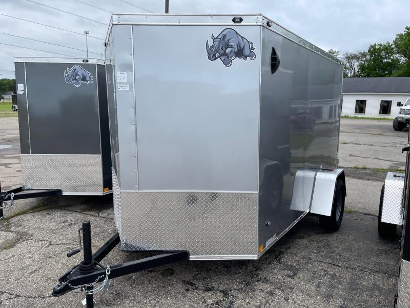 6x10 Rhino CUB  Enclosed Trailer - w/ Ramp Door