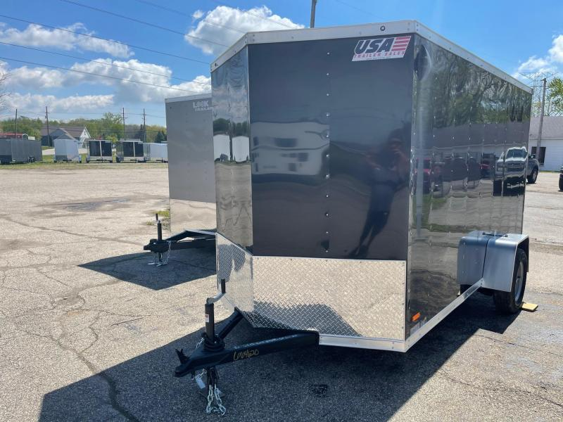 6x12 MTI Enclosed Trailer w/ Ramp Door (Single) WITH 7FT INTERIOR