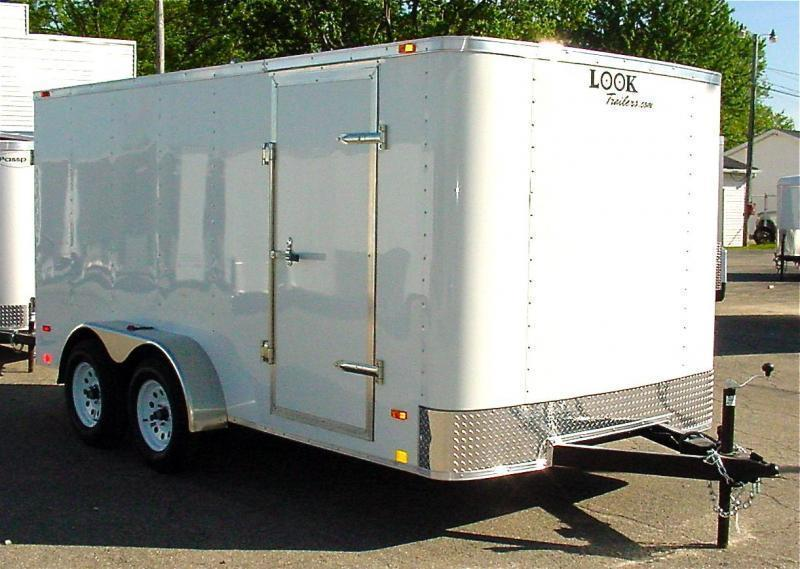 7x14 LOOK Enclosed Trailer w/ Barn Doors