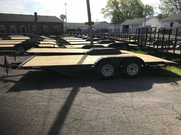 18ft Wood Deck Car Hauler Trailer w/ 1 Axle Brake