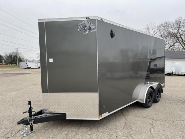 7 x 16  Rhino Safari - Enclosed Trailer - w/ Ramp Door  7ft Interior UTV Package