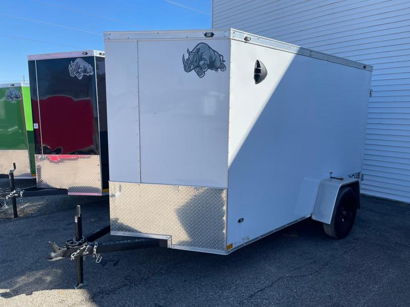 6x10 Rhino CUB  Enclosed Trailer - w/ Ramp Door