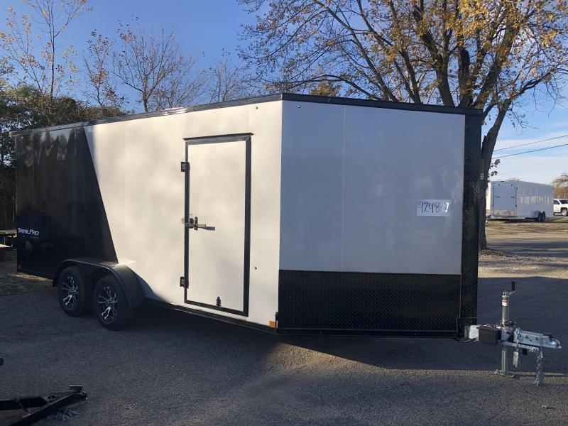 7 x 23 - 3 Place Formula All Aluminum Enclosed Snowmobile Trailer with extra height