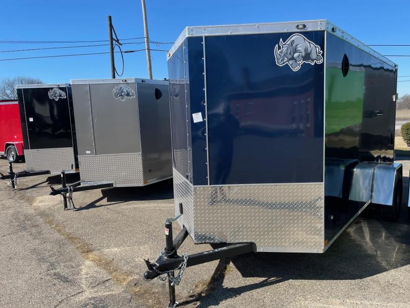 6x12 Rhino CUB  Enclosed Trailer - w/ Ramp Door