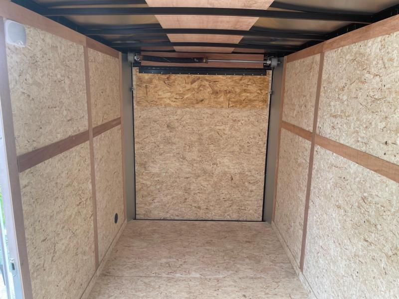 6 x 14 MTI Enclosed Trailer w/ Ramp Door (Single) WITH 7FT  INTERIOR
