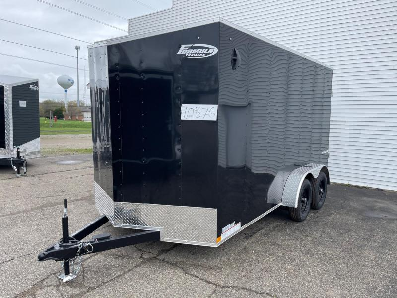 7 X 14 Enclosed V-Nose Trailer W - Ramp Door with EXTRA HEIGHT