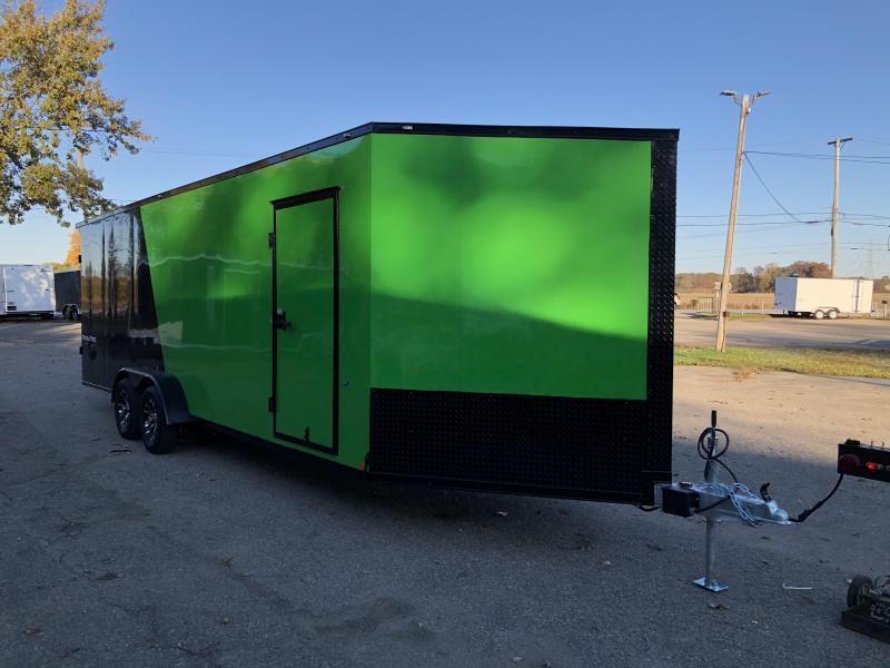 7 x 29 - 5 Place Formula All Aluminum Enclosed Snowmobile Trailer with extra height
